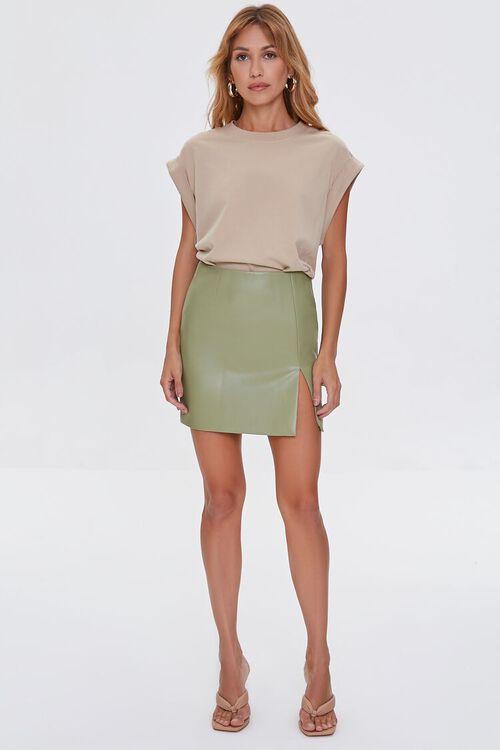 Faux Leather Mini Skirt, image 5