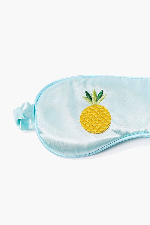 Satin Pineapple Graphic Eye Mask, image 2