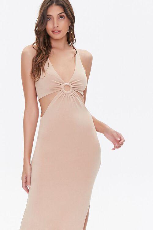 Cutout O-Ring Side-Slit Dress, image 2
