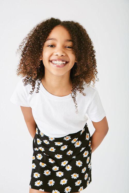 Girls Basic Organically Grown Cotton Tee (Kids), image 1