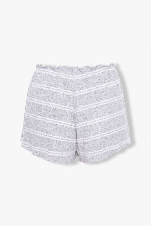 GREY/WHITE Striped Lounge Shorts, image 3