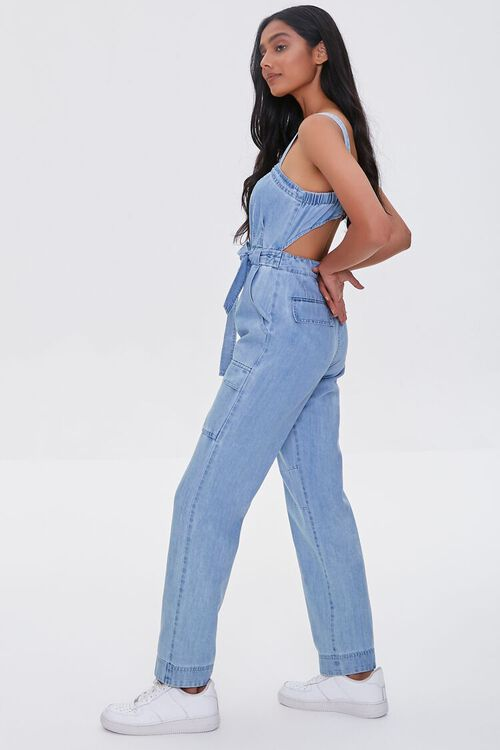 Chambray Cargo Overall Jumpsuit, image 2