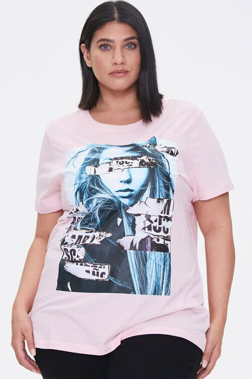 PINK/MULTI Plus Size Woman Graphic Tee, image 1