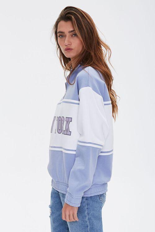 BLUE/MULTI New York Graphic Half-Zip Pullover, image 3