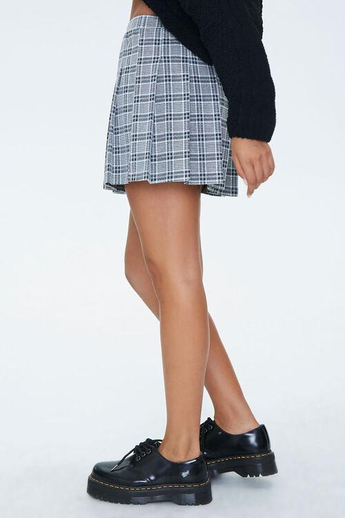 Pleated Houndstooth Mini Skirt, image 3