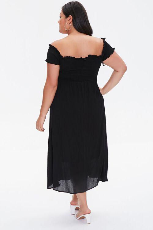 Plus Size Smocked Off-the-Shoulder Dress, image 3