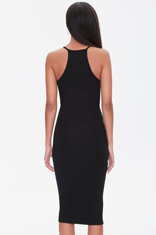 BLACK Seamed Bodycon Midi Dress, image 3