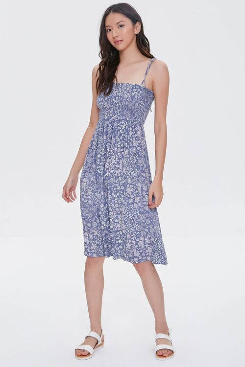 Tie-Strap Paisley Dress, image 5