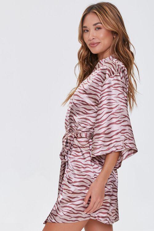 Satin Tiger Print Robe, image 2