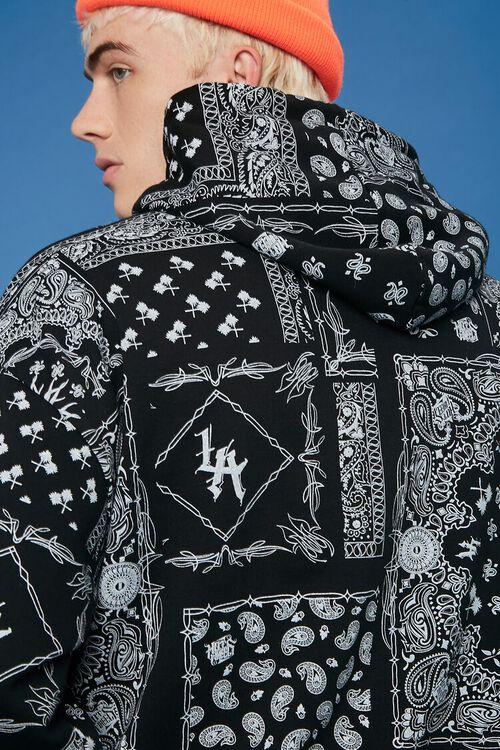 BLACK/WHITE Hot Wheels Graphic Paisley Hoodie, image 6