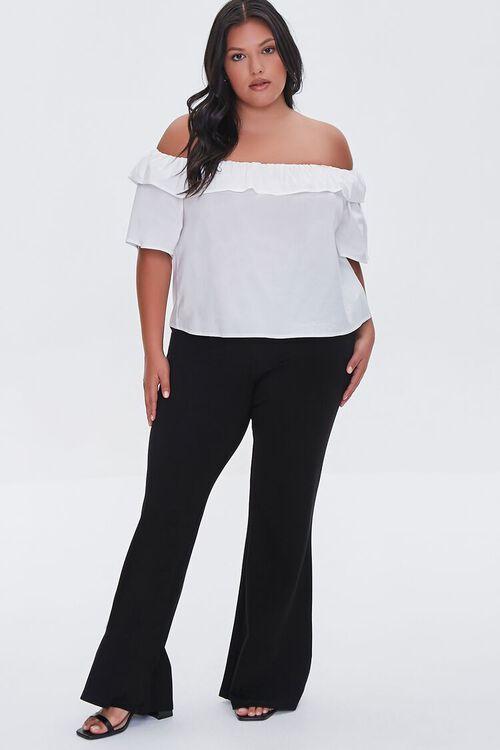 BLACK Plus Size Ponte Knit Flare Pants, image 5