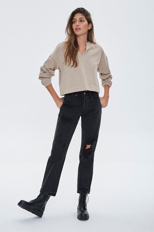 High-Rise Boyfriend Jeans, image 1