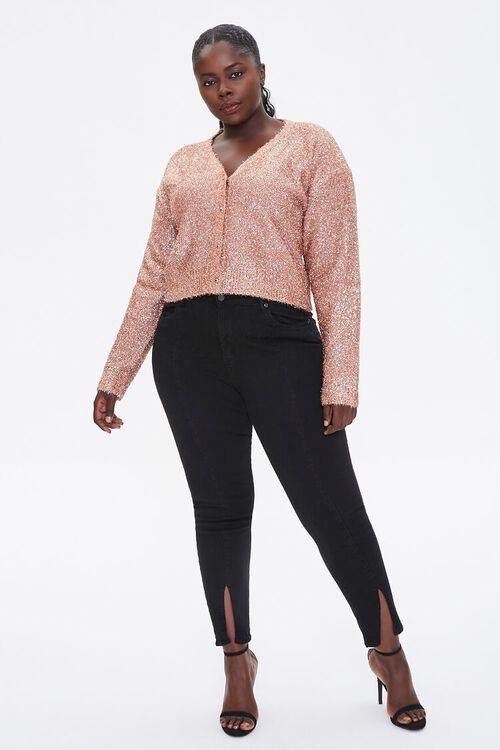 Plus Size Metallic Cardigan Sweater, image 4