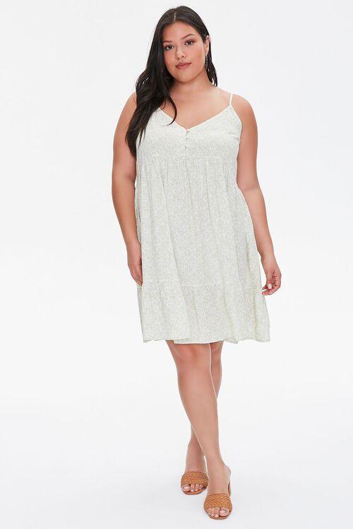 Plus Size Floral Cami Mini Dress, image 4