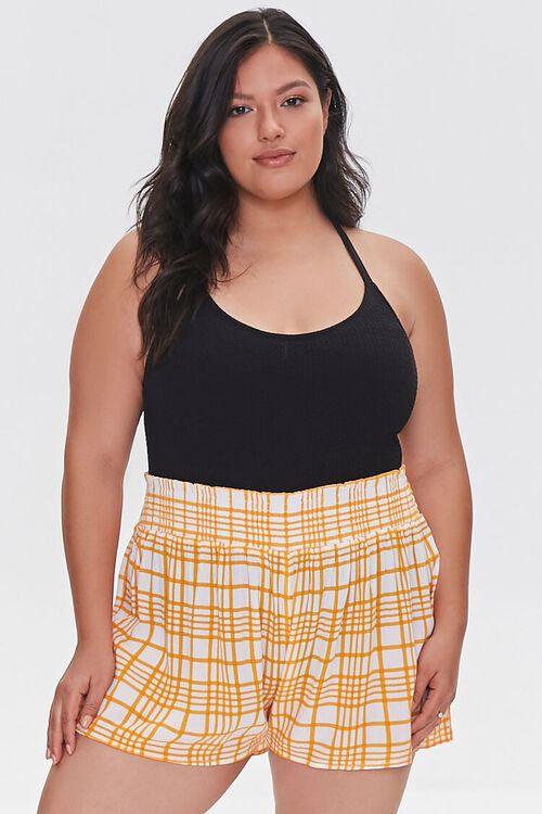 Plus Size Swim Cover-Up Shorts, image 1