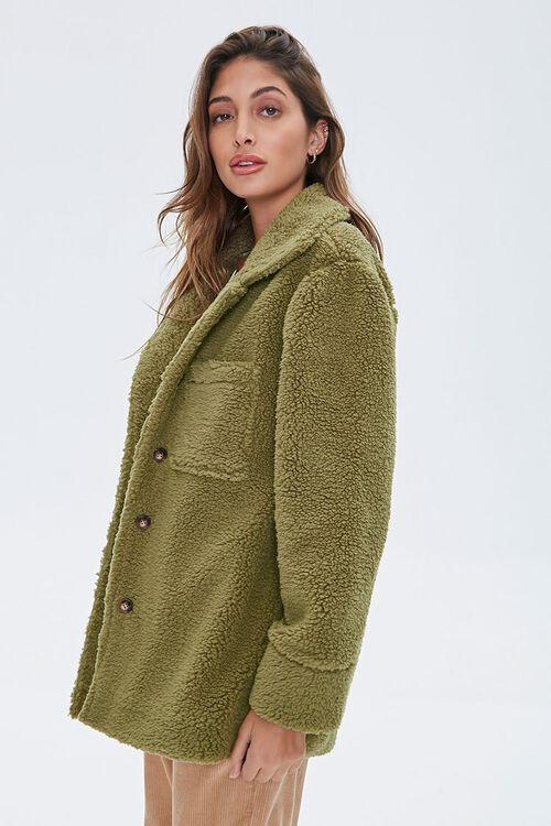 Faux Shearling Drop-Sleeve Jacket, image 2