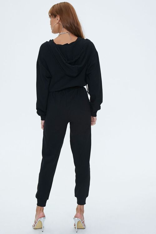 Hooded French Terry Jumpsuit, image 3