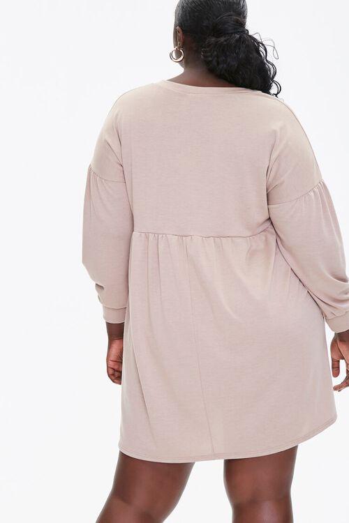 Plus Size Shirred Shift Mini Dress, image 3