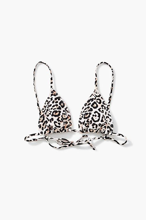 TAN/BLACK Leopard Print Bikini Top, image 4