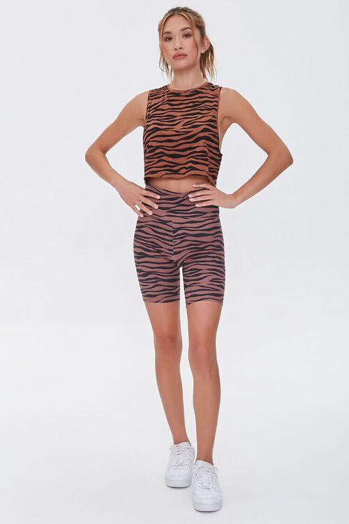 Tiger Striped Biker Shorts, image 5