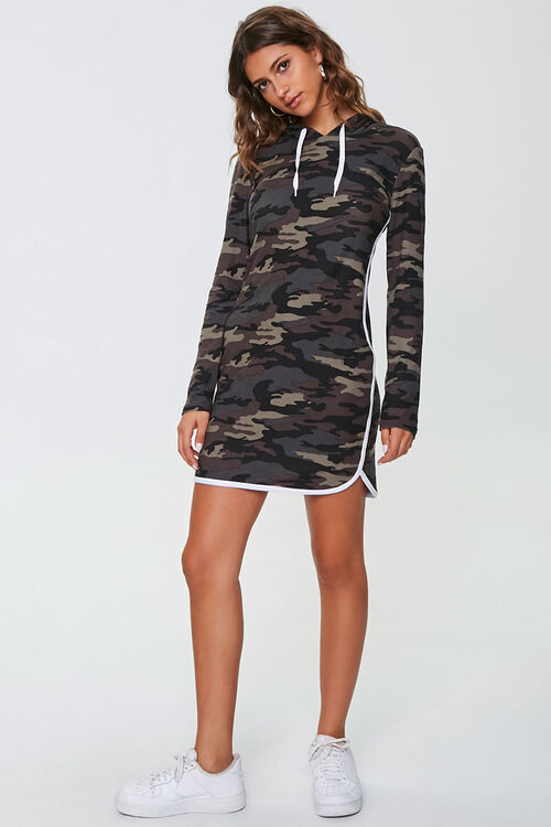 Camo Print Hoodie Dress, image 4
