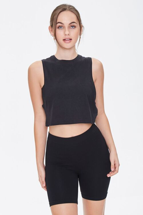 Active Crew Neck Crop Top, image 1