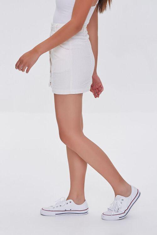 Corduroy Button-Front Mini Skirt, image 3