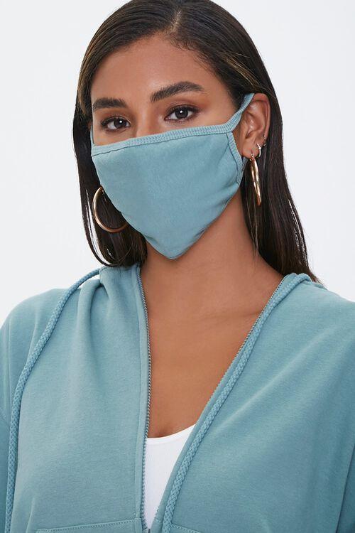 Ribbed-Trim Face Mask, image 1