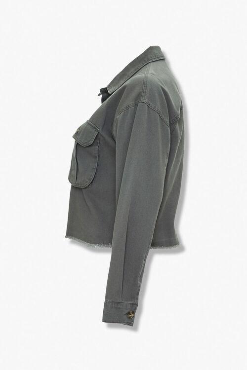 Plus Size Frayed-Trim Jacket, image 2