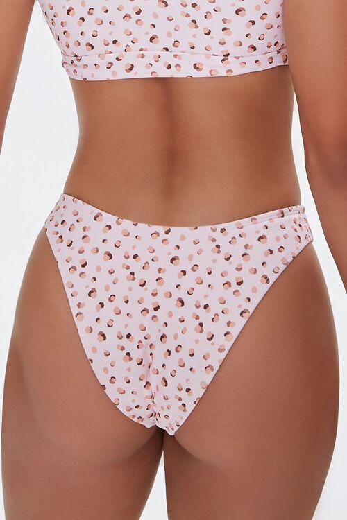 Spotted High-Leg Bikini Bottoms, image 3