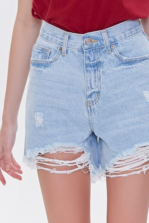 Distressed Denim Mom Shorts, image 5