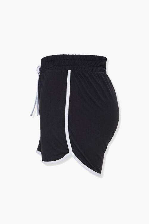 Plus Size Ringer Dolphin Shorts, image 2
