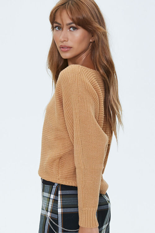 Ribbed Boat Neck Sweater, image 2