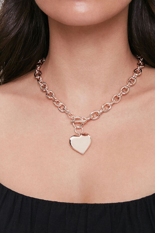 Heart Pendant Toggle Necklace, image 1