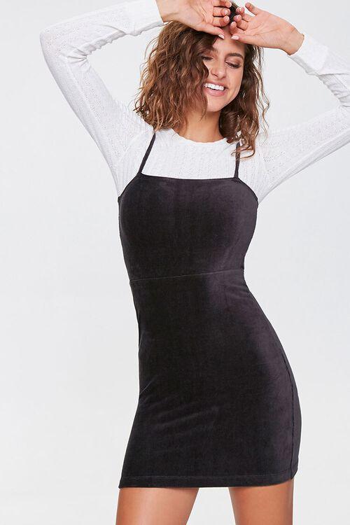 Ribbed Mini Cami Dress, image 1