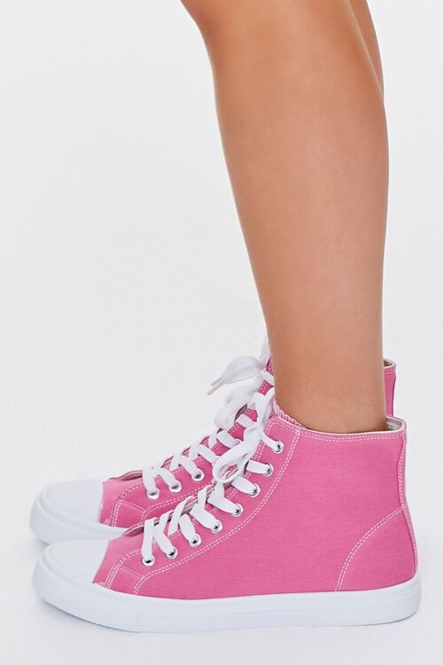 PINK Lace-Up High-Top Sneakers, image 2