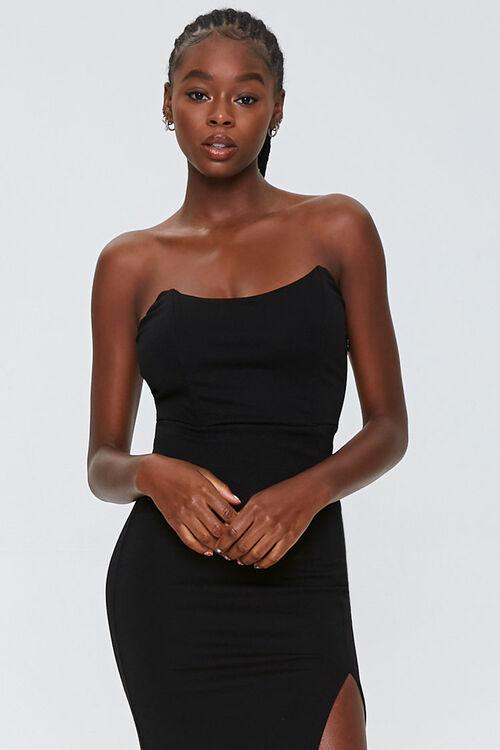 Strapless Slit Maxi Dress, image 4