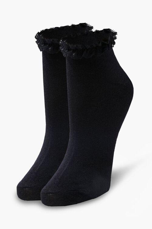 Lace-Trim Ankle Socks, image 1