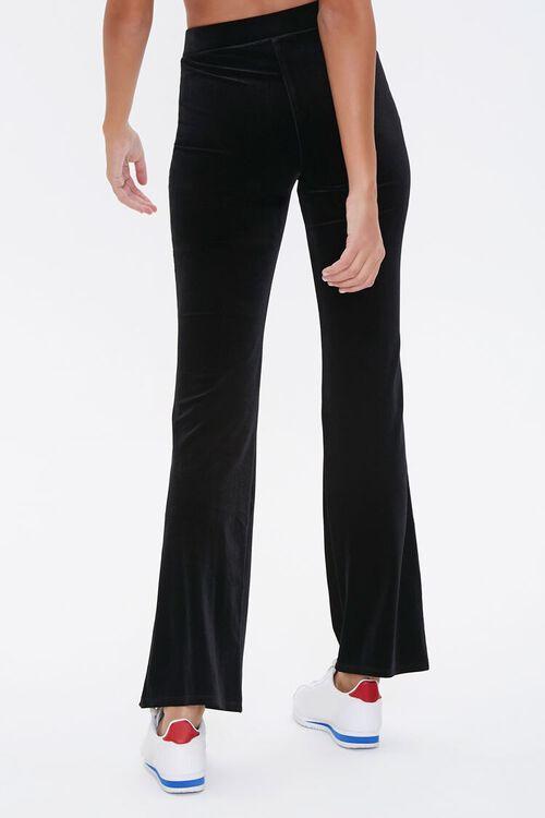 BLACK Flare-Leg Velvet Pants, image 4