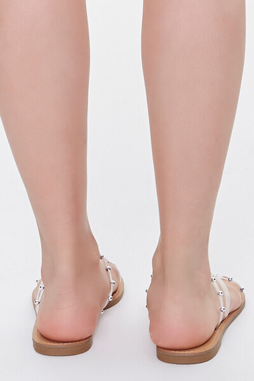 Transparent Ball Stud Flat Sandals, image 3