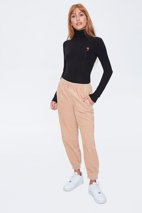 Rose Embroidered Graphic Top, image 4