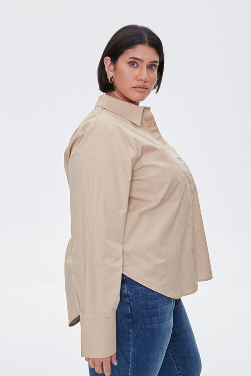 Plus Size Button-Up Shirt, image 2