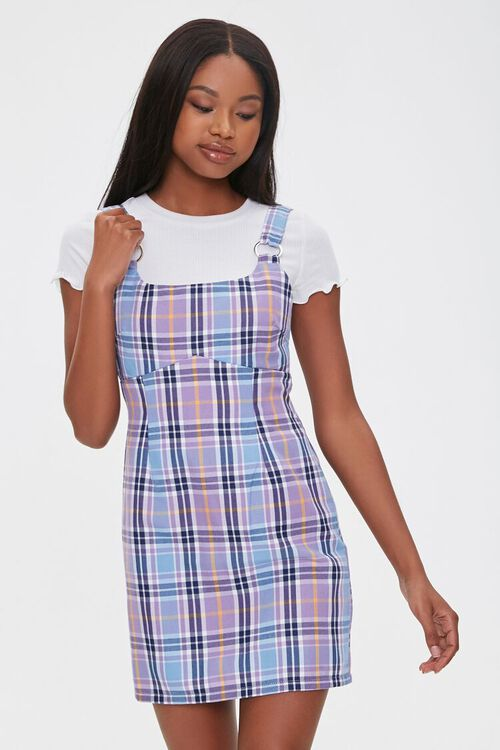 Plaid Pinafore Dress, image 1