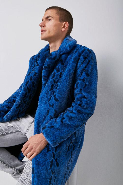 Faux Fur Snakeskin Print Coat, image 1