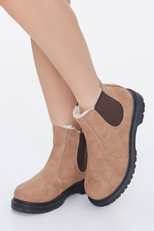 Faux Shearling Chelsea Booties, image 1