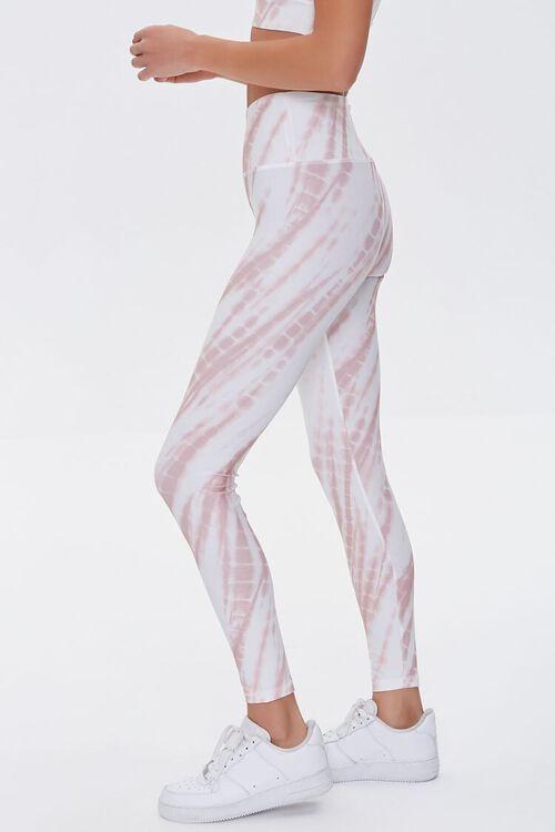 ROSE/WHITE Active Tie-Dye Leggings, image 3