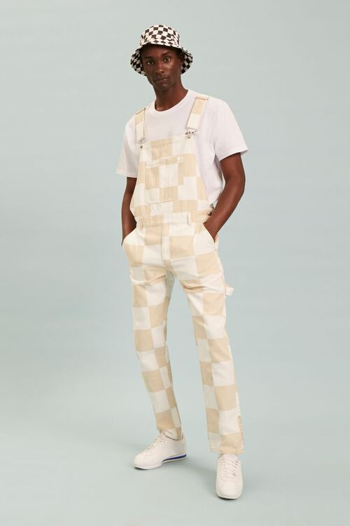 Checkered Canvas Overalls, image 1