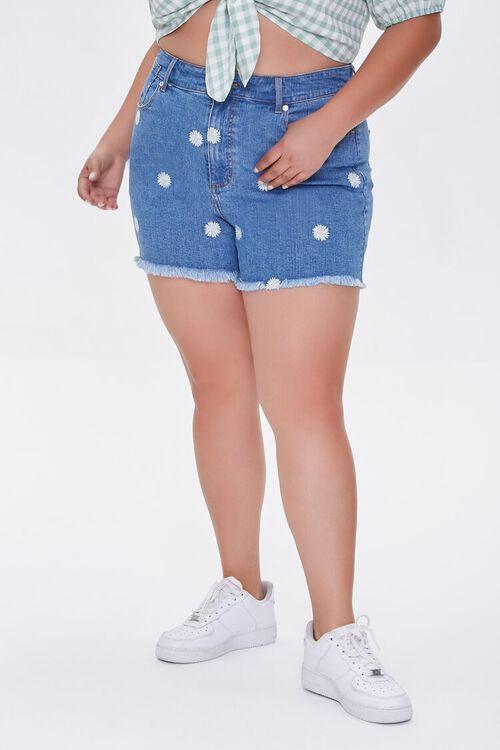 Plus Size Daisy Denim Shorts, image 2