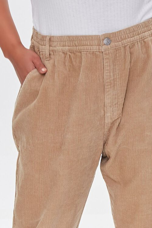 KHAKI Plus Size Corduroy Pocket Joggers, image 5