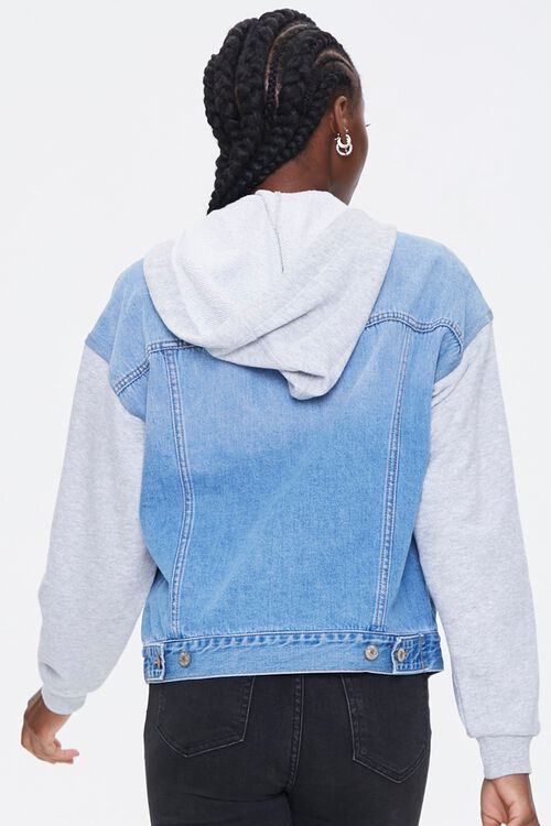 Hooded Denim Combo Jacket, image 3